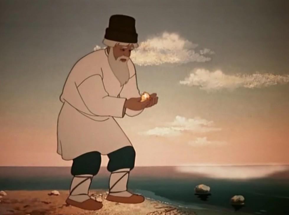 старик из сказки о рыбаке и рыбке рисунки